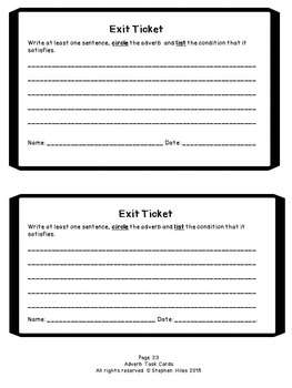Adverb Task Cards: Grades 3-5