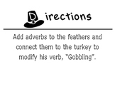 Adverb Thanksgiving Turkey (Black & White)