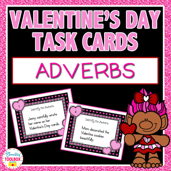 Valentine's Day Task Cards-Adverbs