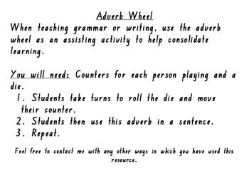 Adverb Wheel Activity