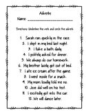 Adverb Practice Sheet