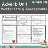 Adverb Worksheets, Companion, and Exit Ticket