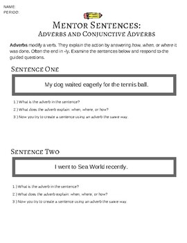 adverb and conjunctive adverb practice by zest instruction tpt