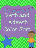Adverb and Verb Color Sort