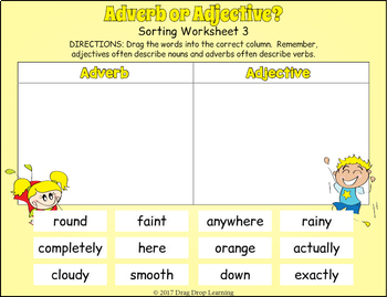 Adjective and Adverb Sorting for Google Drive