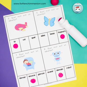 Adverbes: identifying French adverbs practice | Printable & Digital Boom Cards