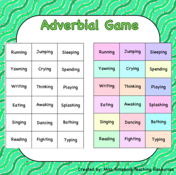 Adverbial Game