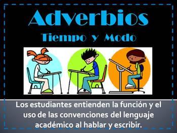 Adverbios - Tiempo y modo