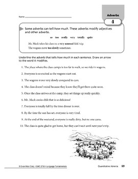 Adverbs 02: Adverbs That Tell Where, When, and How Much