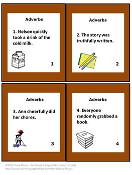 Adverbs Task Card Set