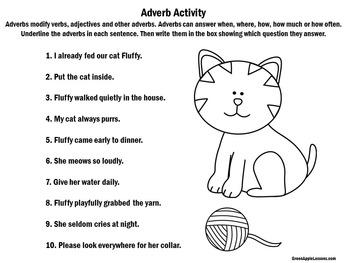 Adverbs Worksheet Activity