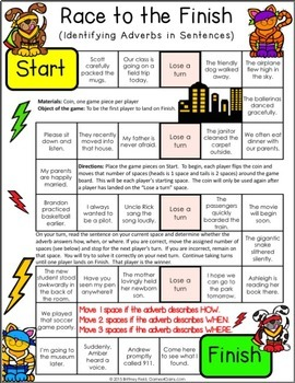 Adverbs Games {Comparative and Superlative Adverbs, Relative Adverbs...}