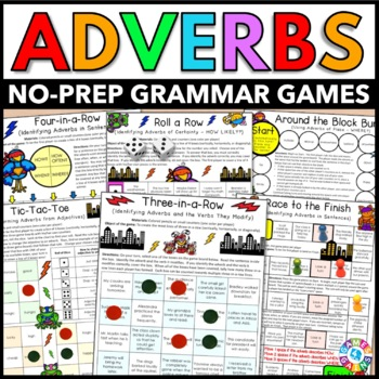 Adverbs Games (Includes Comparative Adverbs, Relative Adve