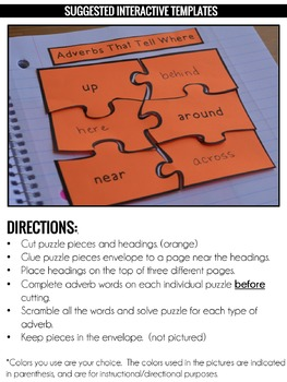 Adverbs Interactive Notebook