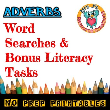 Adverbs Word Search {Set of 5}