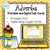 Adverbs Task Cards Printable and Digital | Distance Learning