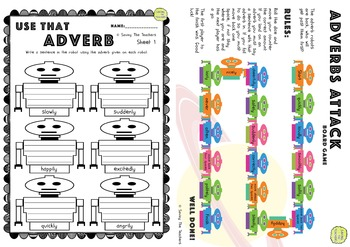 Adverb Worksheets & Board Game Printables