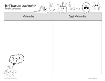 Adverbs: 3rd-4th Grade Common Core Sorting Activity by Common Core ...