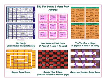 Adverbs 6 Board Game Bundle