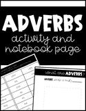 Adverbs Activity