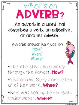 Adverbs Amp Adjectives Freebie By More Time 2 Teach Tpt