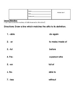 Adverbs Affixes Grammar Review Quiz