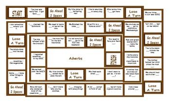 Adverbs Board Game