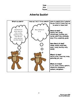 Adverbs Booklet