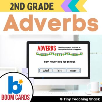 Adverb Boom Cards Distance Learning
