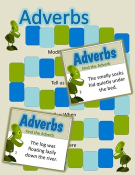 Adverbs Activity plus BONUS Game with Task Cards