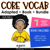 Adverbs Core Vocabulary Adapted Book Bundle [Level 1 and Level 2]