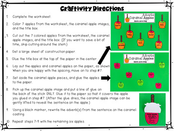 Adverbs Craftivity