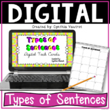Types of Sentences Digital Task Cards  for Google Slides