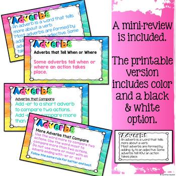 Adverbs Digital Task Cards for Google Slides