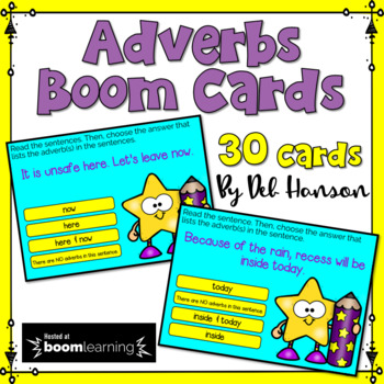 Adverbs Digital Task Cards: BOOM Cards