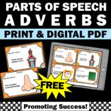 FREE Adverb Task Cards, Grammar Practice