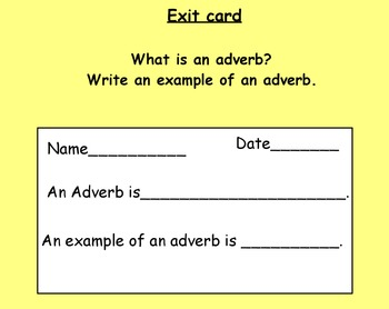 Adverbs Flipchart