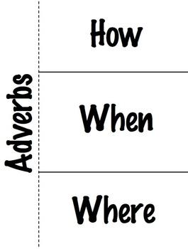 Adverbs Foldable