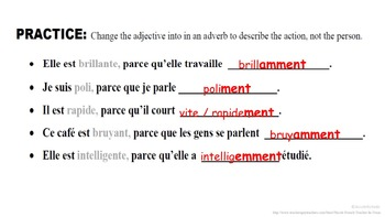 Adverbs Formation and Usage: French Quick Lesson