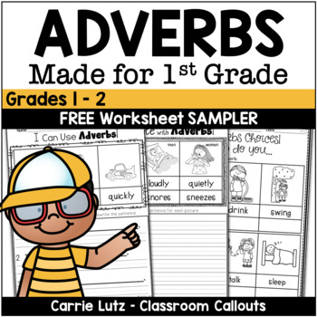 Free Adverbs Worksheets