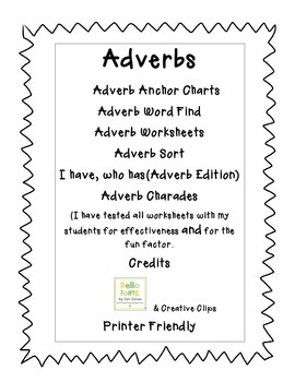 Adverbs Fun