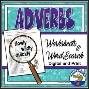 Adverbs Activity - Fun Word Search and Grammar Worksheets