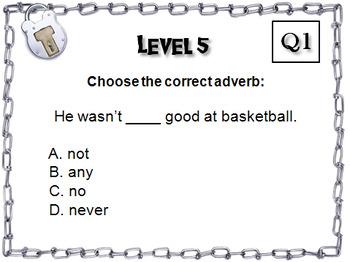 Adverbs: Grammar Escape Room - ELA (Parts of Speech Game 3rd - 5th Grade)