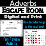 Adverbs: Grammar Escape Room - English (Parts of Speech Game 3rd - 5th Grade)