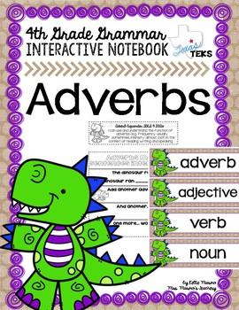 Adverbs Grammar Interactive Notebook
