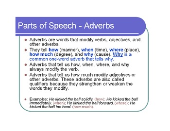 Adverbs Grammar Practice D