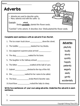Adverbs - Grammar Practice - Mini Pack