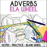 Adverbs Grammar Wheel with Editable Wheel