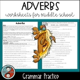 Adverbs - Grammar Worksheets