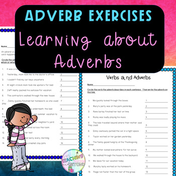 Adverbs - How When Where